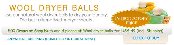Wool Dryer Balls and soap nuts 500 grams (1.1 lbs) combo pack with 4 dryer balls. US$ 49 courier express delivery